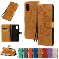 Butterfly Wallet Leather Flip Case Cover For Samsung S20 S10 S9 S8 Plus Note 20