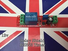 DC 12V Delay Relay Shield NE555 Timer Switch Module 0 - 10 Second Adjustable UK