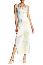 ff3c94596d7 Komarov Striped Crinkled Tank Dress V-neck Sleeveless Large