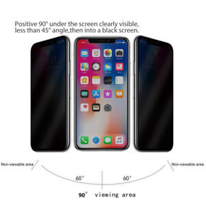 Anti-Spy Premium Tempered Glass Screen Protector for iPhone 11 Pro Max XR XS