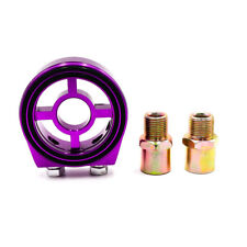 3/4 UNF-16 M20*1.5 Oil Cooler Filter Sandwich Plate Fuel Sensor Adapter Purple