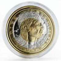 Honduras 10 lempiras Temple arms tri-metallic coin 1995