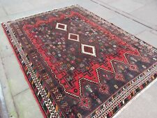 Vintage Hand Made Traditional Oriental Wool Red Grey Large Rug Carpet 214x160cm