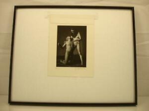 Original signed Photograph framed Paul Schroeder Denver Artist 1993 Male Nudes
