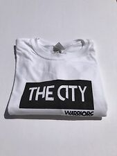 "Custom Golden State Warriors Black And White ""The City"" Logo T Shirt Men's Large"