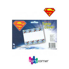 SUPERMAN PARTY SUPPLIES TABLE COVER / TABLECLOTH 1.8 X 1.3 METERS