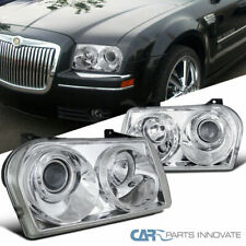 Chrysler 05-10 300 Clear Lens Projector Headlights Head Lights Lamps Left+Right