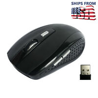 2.4GHz Wireless Cordless Optical Mouse Mice + USB Receive For PC Laptop Computer