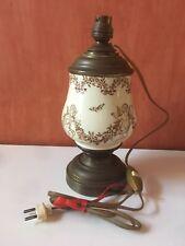Pied De Lampe De Chevet , Table Ou Bureau En Porcelaine Et Laiton Décors Angelot