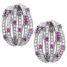 Star Hoop Earrings 925 Sterling Silver Multi Color Stone Earrings Jewelry Gift