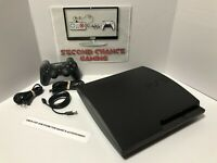 Sony PS3 Slim CECH-2001a 320GB Console Bundle - Controller + Cables - Tested