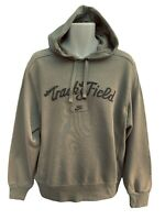NEW NIKE Sportswear NSW Vintage Track and Field Cotton Fleece Hoodie Green M