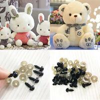 100Pcs 6-10mm Utility Plastic Safety Screw Eyes For Teddy Bear Doll Stuffed Toys