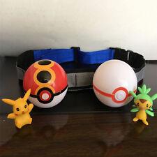 Pokemon Go Pikachu Clip N Carry Poke Ball Belt Kids Net Anime Cartoon Play Toy