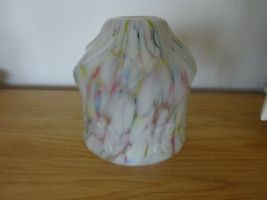 Vintage glass multicoloured lampshade