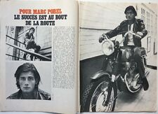 MARC POREL => COUPURE DE PRESSE 2 pages 1970 // FRENCH CLIPPING