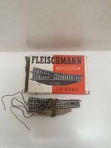 Fleischmann profi aiguillage droit electrique ref: 9141  en N