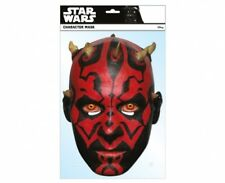 Darth Maul Star Wars Officiel 2D unique Carte Fête Masque Seigneur Sith