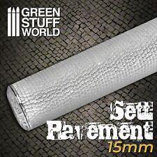 Green Stuff World Rolling Pin Sett Pavement 15mm