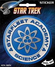 Star Trek Classic Starfleet Academy Science Logo Peel Off Sticker Decal, UNUSED