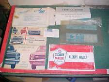 1967 AMC MARLIN AMBASSADOR OWNER'S GLOVEBOX MANUAL w/ CARD & EXTRAS very good