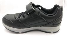 Light Up Athletic Sneakers CHILDRENS Unisex SIZE 3 BLACK Rechargeable shoes #378