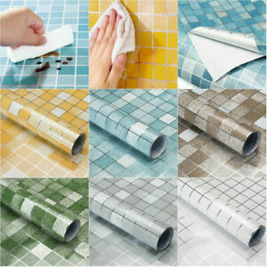 Kitchen Waterproof Anti-Oil Tile Decal Wall Sticker Self-adhesive Wallpaper