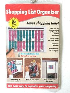 Vintage Shopping List Organizer - Hangs on Refriferator with Magnet Included! E1