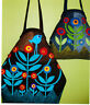 CLEARANCE - Netties Bag - fabulous applique bag PATTERN in 2 sizes - Flying Fish