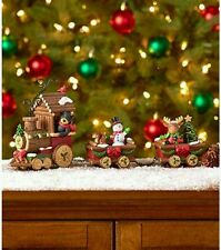 New 3 Piece Holiday Train Figurine Set Snowman Bear Moose