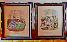 Pair of VTG Color Engravings ''Modes de Paris -Petit Courrier des Dames- Paris'