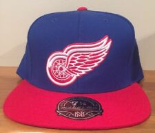 DETROIT RED WINGS NHL MITCHELL & NESS Fitted Hat Cap Throwback Sz 7 1/8