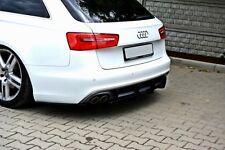 Diffusor für Audi A6 4G C7 Heckansatz Heckschürze hinten Heck Ansatz DTM FLap RS