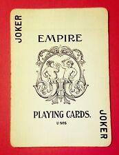 vintage 1897 EMPIRE No 97 A DOUGHERTY PLAYING Cards, CHERUBS Joker, NUDE BACKS