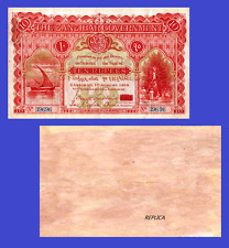 Zanzibar 10 Rupees 1916. UNC - Reproduction