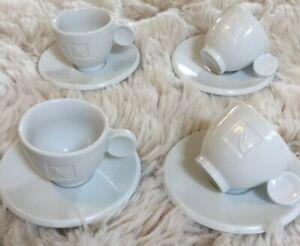 Nespresso White China Espresso Cup And Saucer Set - Set Of 4
