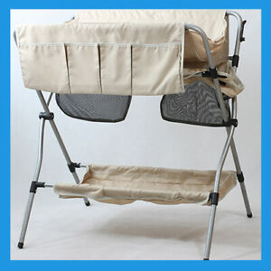 ADBOR Foldable Portable Baby Beige Fabric Changing Table Mat Unit
