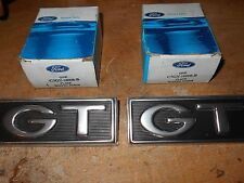 NOS 1968 FORD MUSTANG GT 1967 MERCURY CYCLONE GT FRONT FENDER EMBLEMS PAIR SET