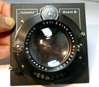 Carl Zeiss Jena Tessar 15cm f3.5 Lens Compur Linhof III Munchen Technika Board