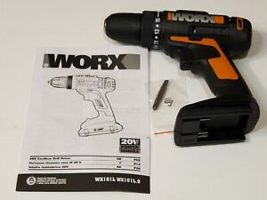 WORX WX101L.9 20-Volt Lithium-Ion 3/8 in Drill Driver TOOL ONLY NEW