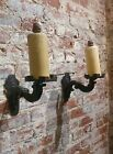 19th century Spanish Gothic Cast Iron wall candle Sconces -A pair