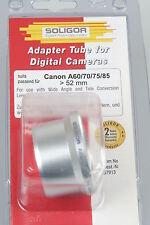 Soligor anschlusstubus/tubo de adaptador para Canon a60/70/75/85 > 52mm