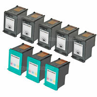 8PK #92 #93 C9362WN C9361WN for HP COLOR/BLACK Ink Cartridge PSC 1507 1510 1510v