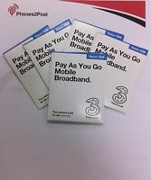 3 / Three PAY AS YOU GO 3G / 4G Nano DATA BROADBAND SIM Card Official For iPad