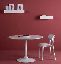 Esstisch Rund 110 cm Weiß Tisch Oda Design Küchentisch Säulentisch lackiert