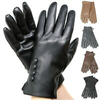Women's Soft Genuine Leather Long Gloves Winter Cold Weather Thermal Insulate