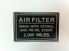 Royal Enfield Motorcycle Air Filter Wash Sticker - NEW - (#807B)