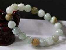 Certified Natural Grade (A) Untreated Chinese Jadeite JADE Beads Bracelet
