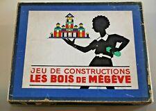 JEU ANCIEN de construction LES BOIS DE MEGEVE  Années 50 Boite