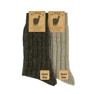 GoWith Unisex Alpaca Cozy Thermal Knit Wool Boot Socks | 2 Pairs | Model: 3094